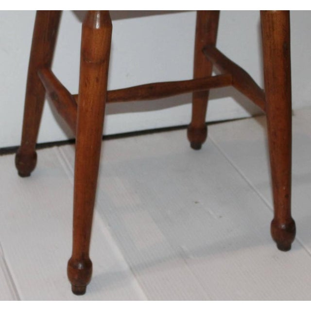 19th Century New England Pine Stool - Image 6 of 6