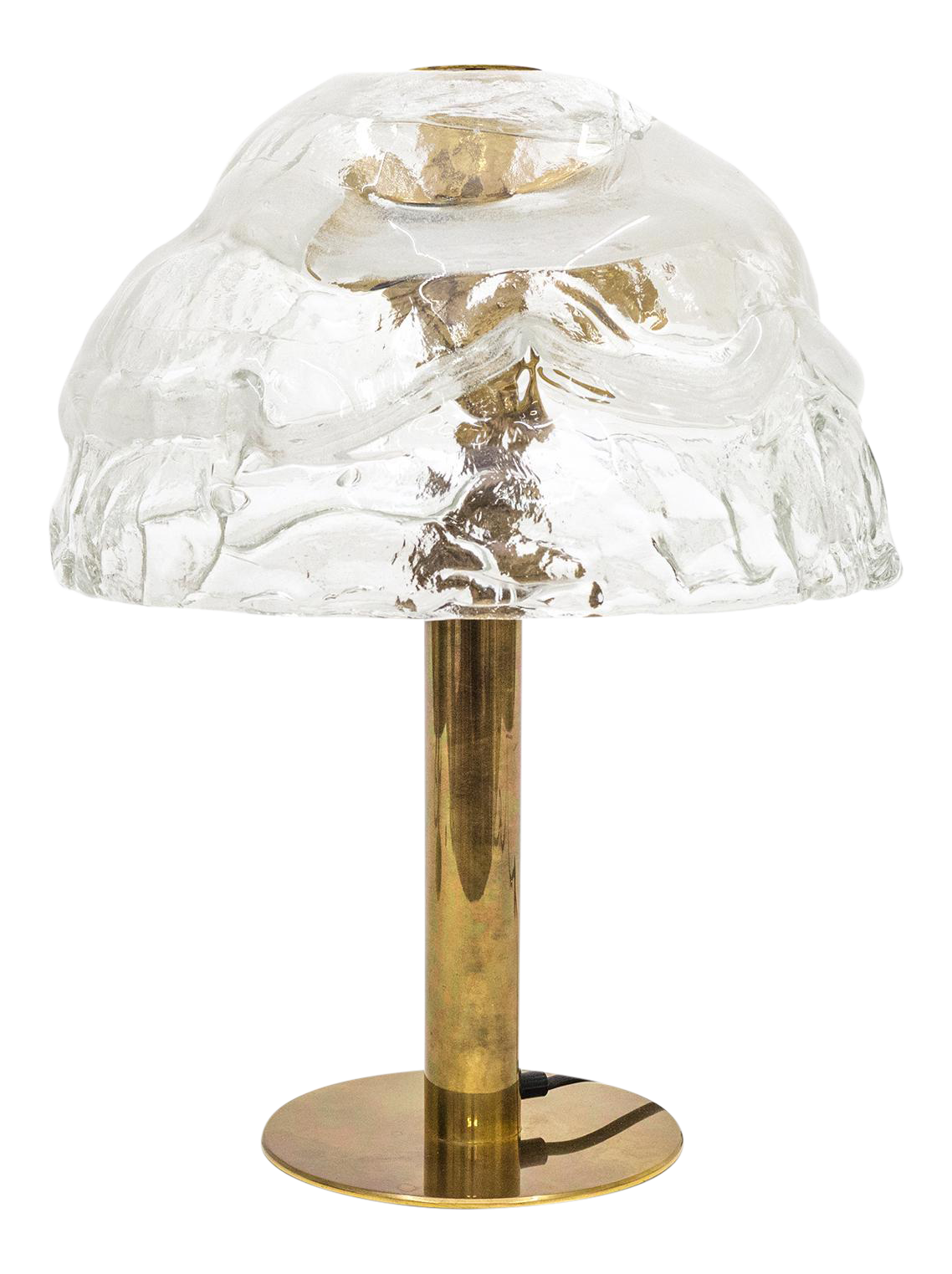 Large Kalmar Murano Glass And Brass Table Lamps, 1970s (Three Avaiable)