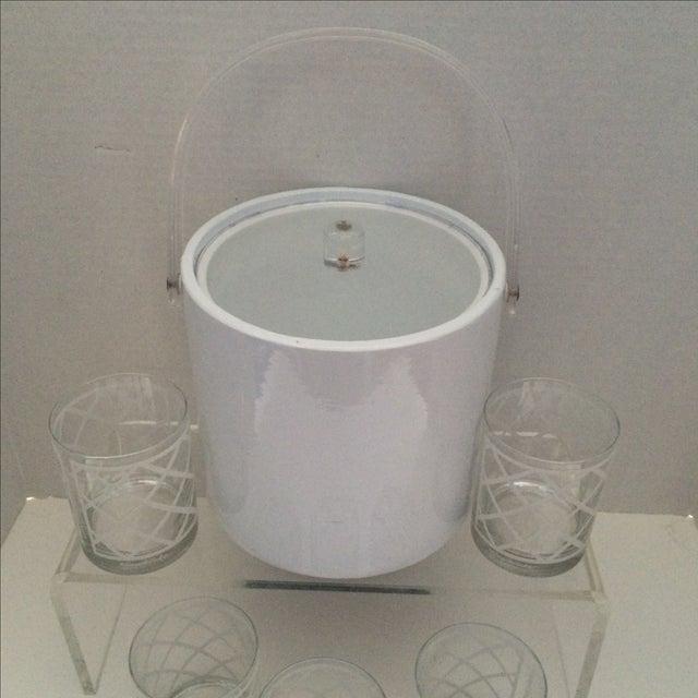 Georges Briard Mid-Century Ice Bucket & Glasses - Image 6 of 6