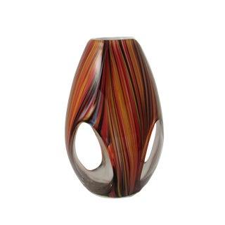 Vintage Italian Murano Style Hand Blown Glass Window Vase For Sale