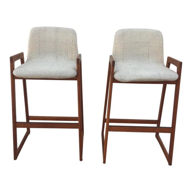 Koefoed Mid-Century Bar Stools - A Pair For Sale