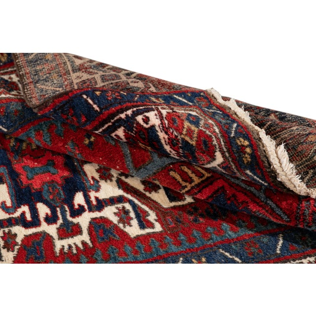 "Vintage Persian Heriz Rug, 4'8"" X 7'0"" For Sale - Image 4 of 9"