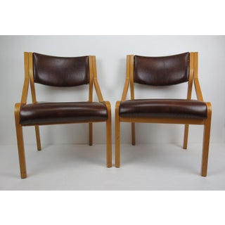 Vintage Mid-Century Modern Thonet Krona Side Chairs - a Pair Preview