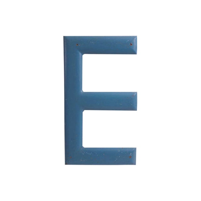 "Image of Large Blue Letter ""E"""