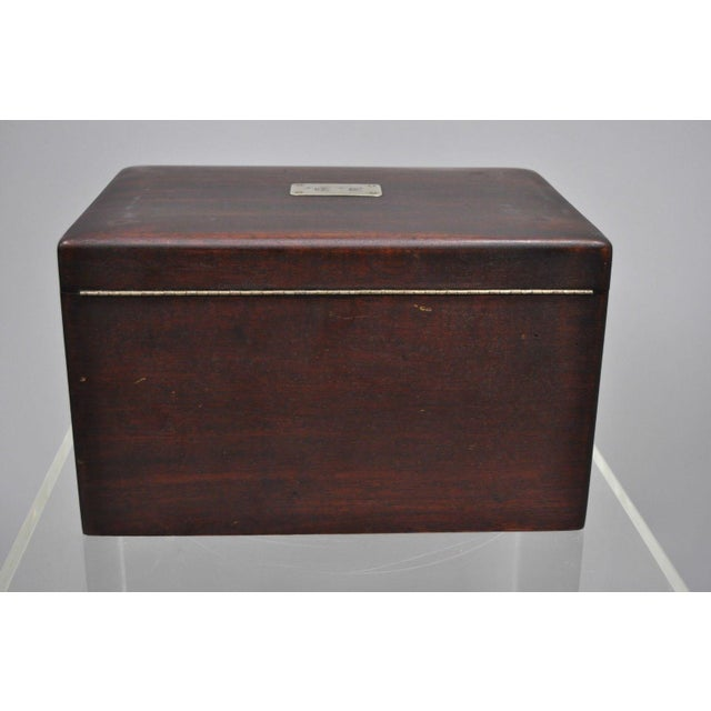 Modern Early 20th Century Antique Mahogany Cigar Humidor For Sale - Image 3 of 11