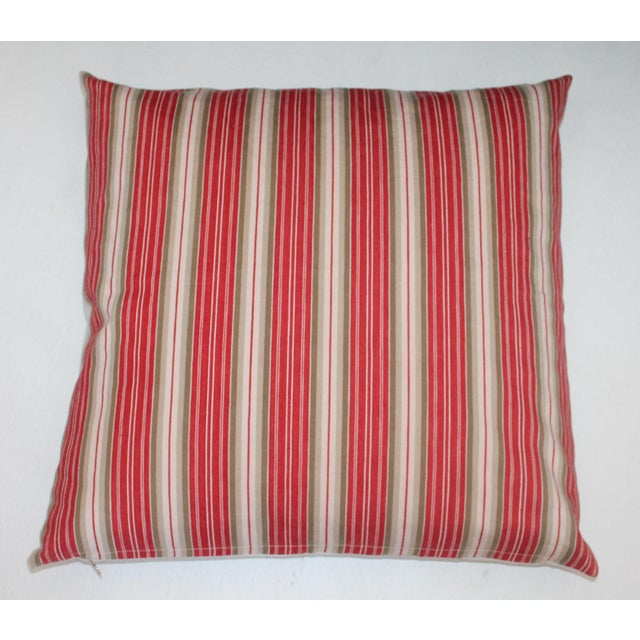 Deep Red background With White Stripes For Sale - Image 4 of 5