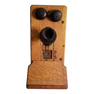 Early 1900's Antique Kellogg Wall Phone For Sale