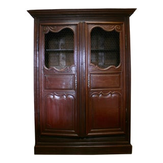English Hand Carved Armoire For Sale