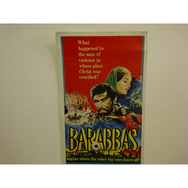 """Mid-Century Modern """"Barabbas"""" Vintage Movie Poster For Sale - Image 3 of 5"""