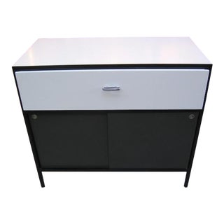 George Nelson Steel Frame Sliding Door Single Drawer Cabinet For Sale