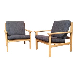 Hans Wegner Lounge Chairs - a Pair For Sale