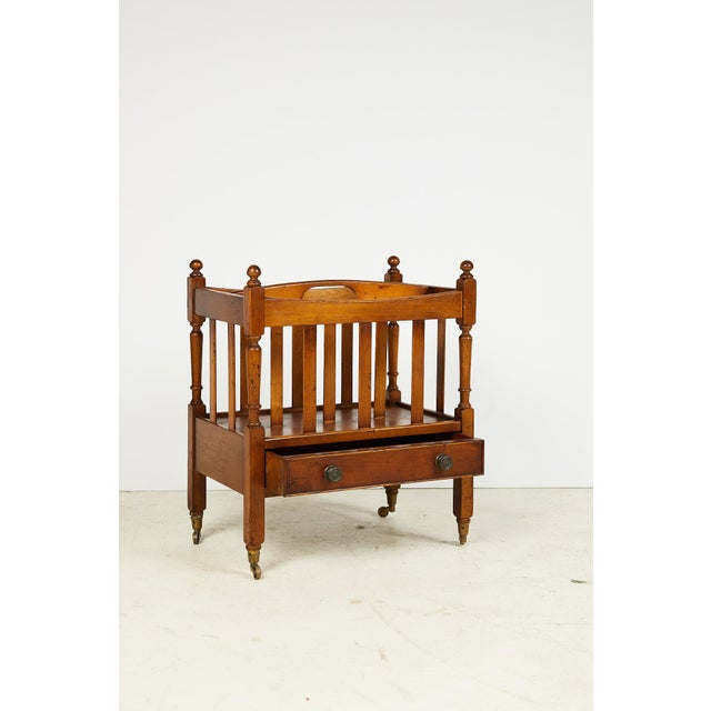 Early 20th Century Early 20th Century English Sheraton Style Canterbury For Sale - Image 5 of 13