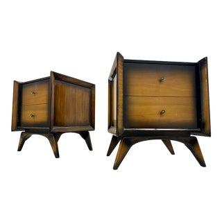 Mid Century Modern Lacquered Side Tables -A Pair For Sale