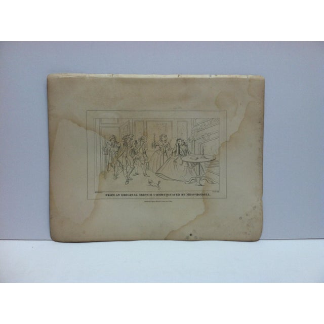 """Antique Rare Original Engraving, """"From an Original Sketch Communicated by Mess Boydell"""" by John Hogarth, circa 1840 For Sale - Image 4 of 4"""