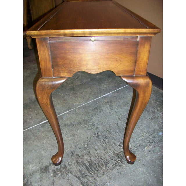Harden Queen Anne Style Sofa Table Console For Sale - Image 5 of 10