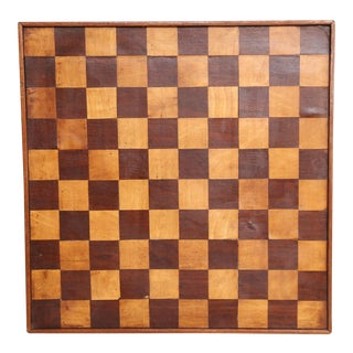 Antique 19th-Century English Chess & Checkers Game Board
