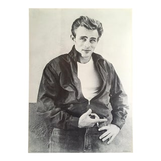 """James Dean Foundation Rare Vintage 1986 Iconic Lithograph Print """" Rebel Without a Cause """" 1955 Photo Collector's Poster For Sale"""