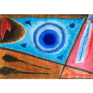 Richard Goodwin Abstract Tribal Oil Painting For Sale