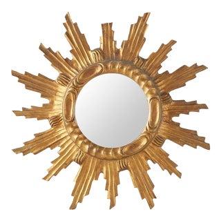 Mid-Century Starburst Mirror For Sale
