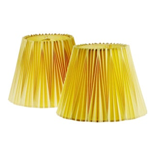 Vintage Rembrandt Pleated Lamp Shades - A Pair