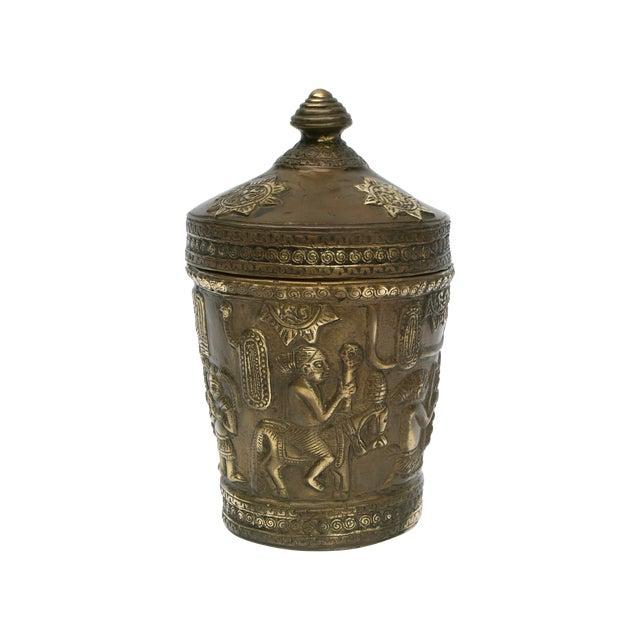 Decorative Indonesian Bronze Jar - Image 1 of 6
