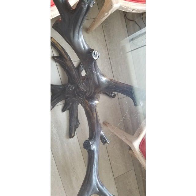 Vintage Sculptural Faux- Bois Bronze Dining Table . For Sale - Image 11 of 13