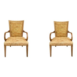 Pair of Currey & Co. Curvy Arm Chairs