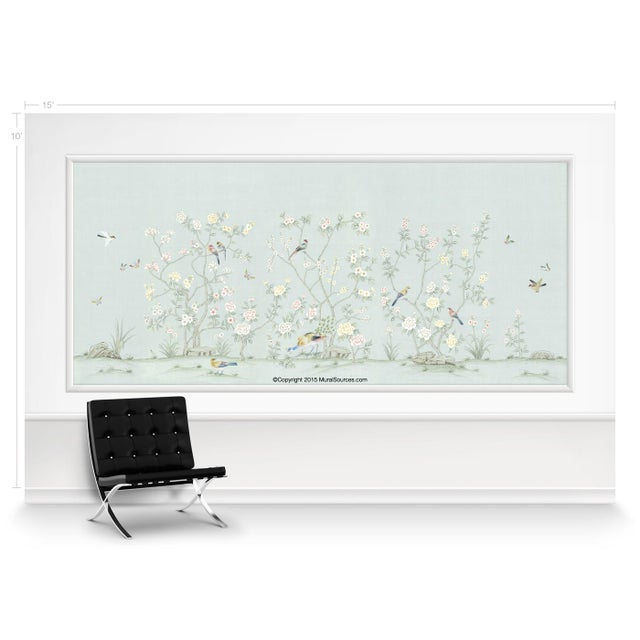Chinoiserie Casa Cosima Hadley Wallpaper Mural - Sample For Sale - Image 3 of 5