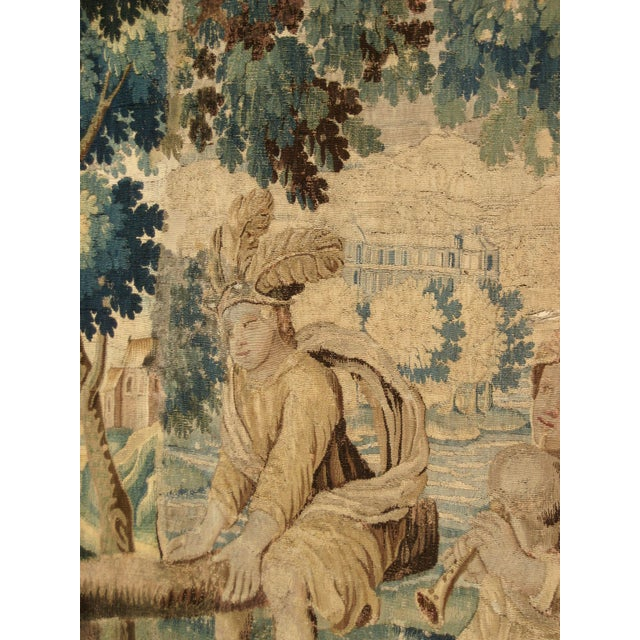 17th Century 17th Century French Louis XIV Aubusson Tapestry Wall Hanging For Sale - Image 5 of 8