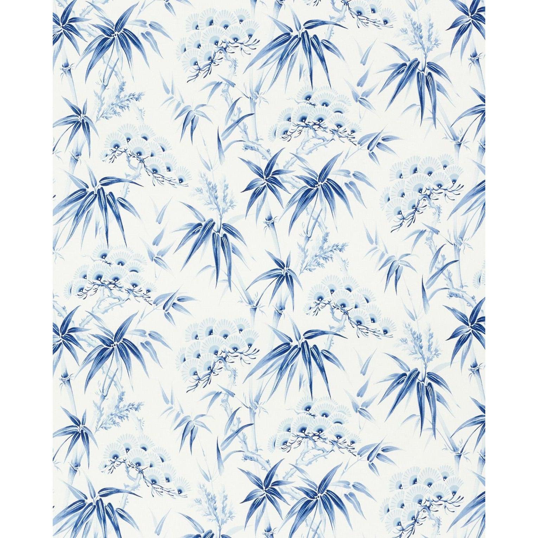 Schumacher Arita Floral Wallpaper In Porcelain Chairish