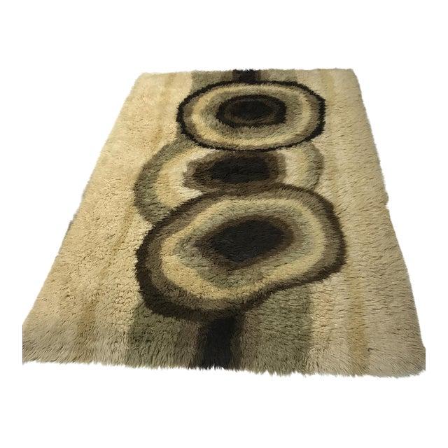 "Mid-Century Danish Wool Rug - 4'8"" X 6'5"" - Image 1 of 5"