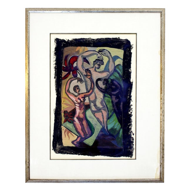 Original 1980s Peter Booth Contemporary Surrealist Mixed-Media Painting For Sale