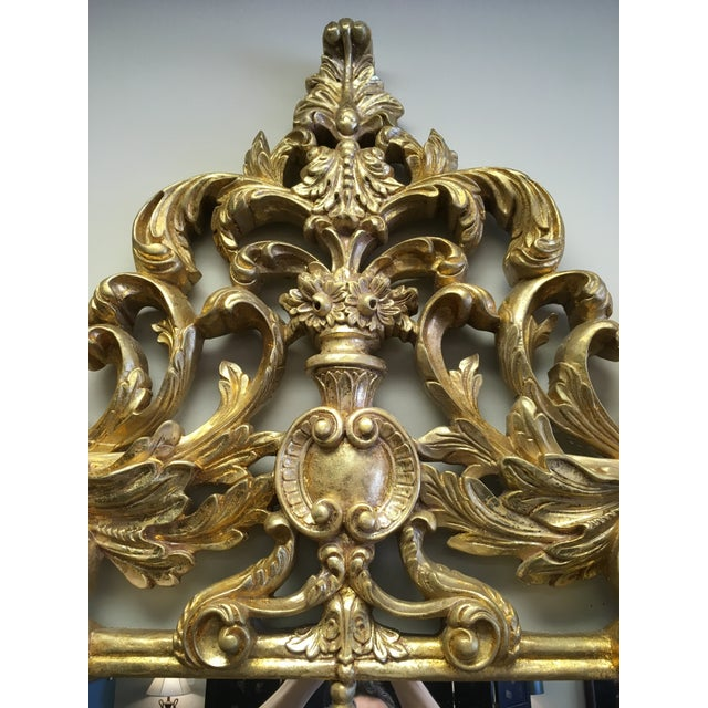 Glass 1990s Vintage Italian Gilded Pier Mirror For Sale - Image 7 of 13