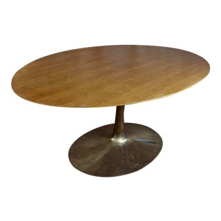 1960s Mid Century Modern Tulip Oval Dining Table For Sale