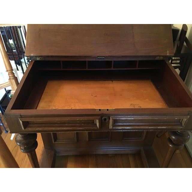 Traditional 19th Century Victorian Walnut Davenport Desk For Sale - Image 3 of 8