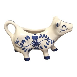 Delft Blue and White Cow Creamer For Sale
