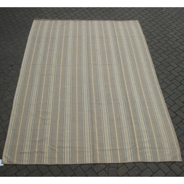 Flat Weave Striped Indian Rug - 10' X 14' - Image 2 of 3
