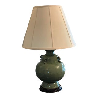 1980s Chinoiserie Celadon Green Jar Lamp by Fredrick Cooper For Sale