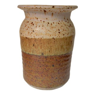 Mid-Century Signed Studio Ceramic Vase For Sale