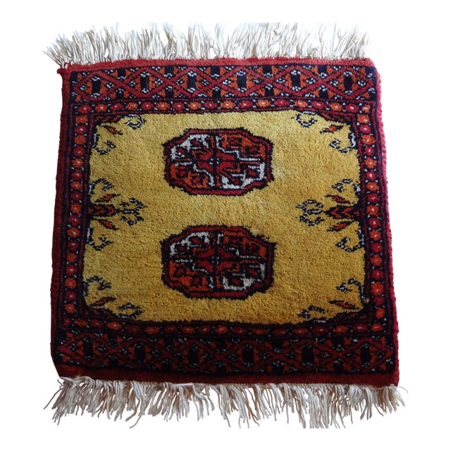 Miniature Hand Knotted Wool Prayer Rug - Image 1 of 6