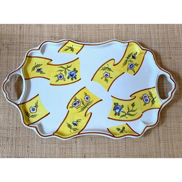 Ceramic Tiffany Serving Platter by Este Ceramiche Italy For Sale - Image 7 of 7