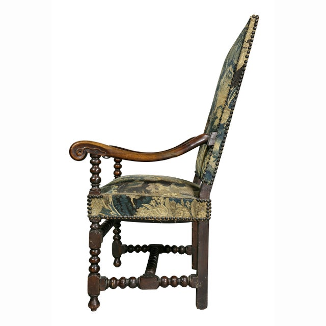 Flemish Baroque Walnut Armchair For Sale - Image 10 of 12