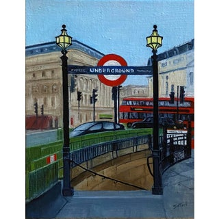 Original Oil Painting of Piccadilly, London, Signed For Sale
