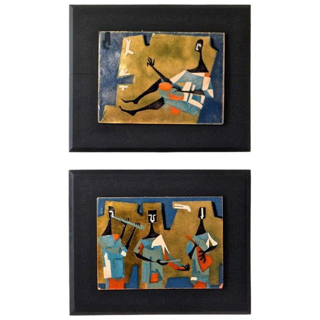 Pair of French Enameled Plaques - Image 1 of 10