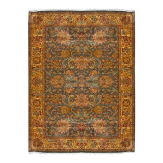 Hand-Knotted Indian Jaipur Rug - 10′1″ × 13′2″ For Sale