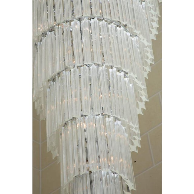 Italian Venetian Crystal Drop Chandelier For Sale - Image 3 of 6