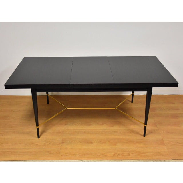 Black and Brass Dining Table by Paul McCobb - Image 10 of 10