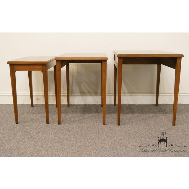 Heritage Solid Ash Italian Neoclassical Nesting End Tables - Set of 3 For Sale In Kansas City - Image 6 of 12