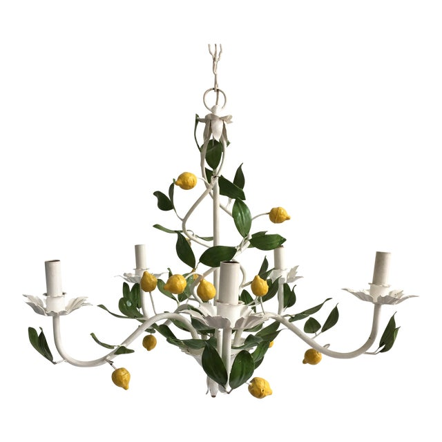 Italian Lemon Tree Tole Chandelier - Image 1 of 11