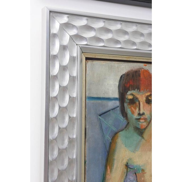 Canvas F. Krieger Mid-Century Modern Nude Female Painting For Sale - Image 7 of 7
